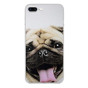 iPhone 7 Plus Animal Divertido Estuche de Silicona/Cubierta ...