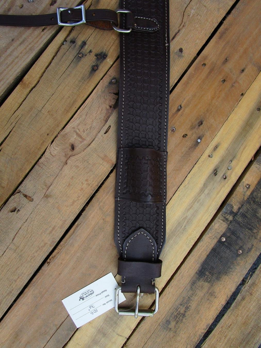 Tooled Leather Back Rear Cinch FlankビレットWestern回りHorse Trail Roperタック   B01MQSDYC0