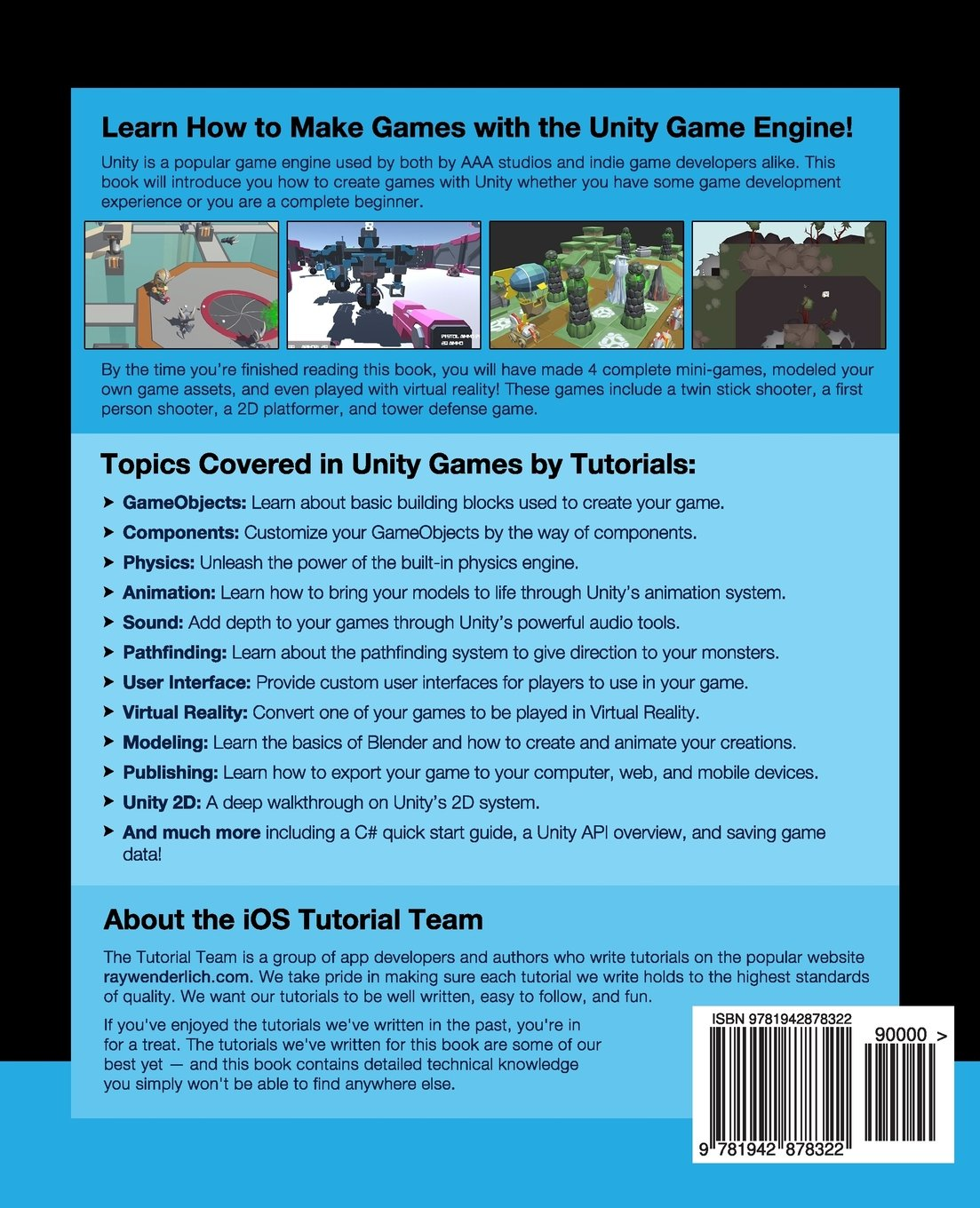 Unity Games by Tutorials: Make 4 Complete Unity Games from Scratch