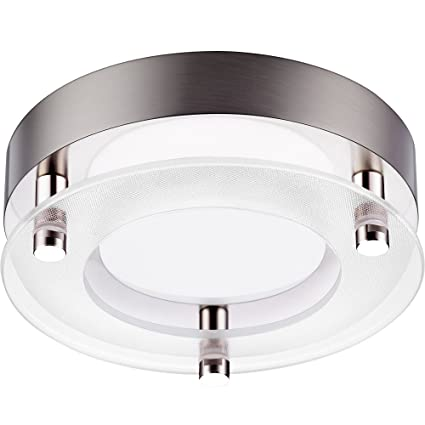Getinlight dimmable surface mount led ceiling light 5 5 inch 12w60w equivalent