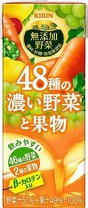 キリン 無添加野菜 48種の濃い野菜と果物 200ml×24本