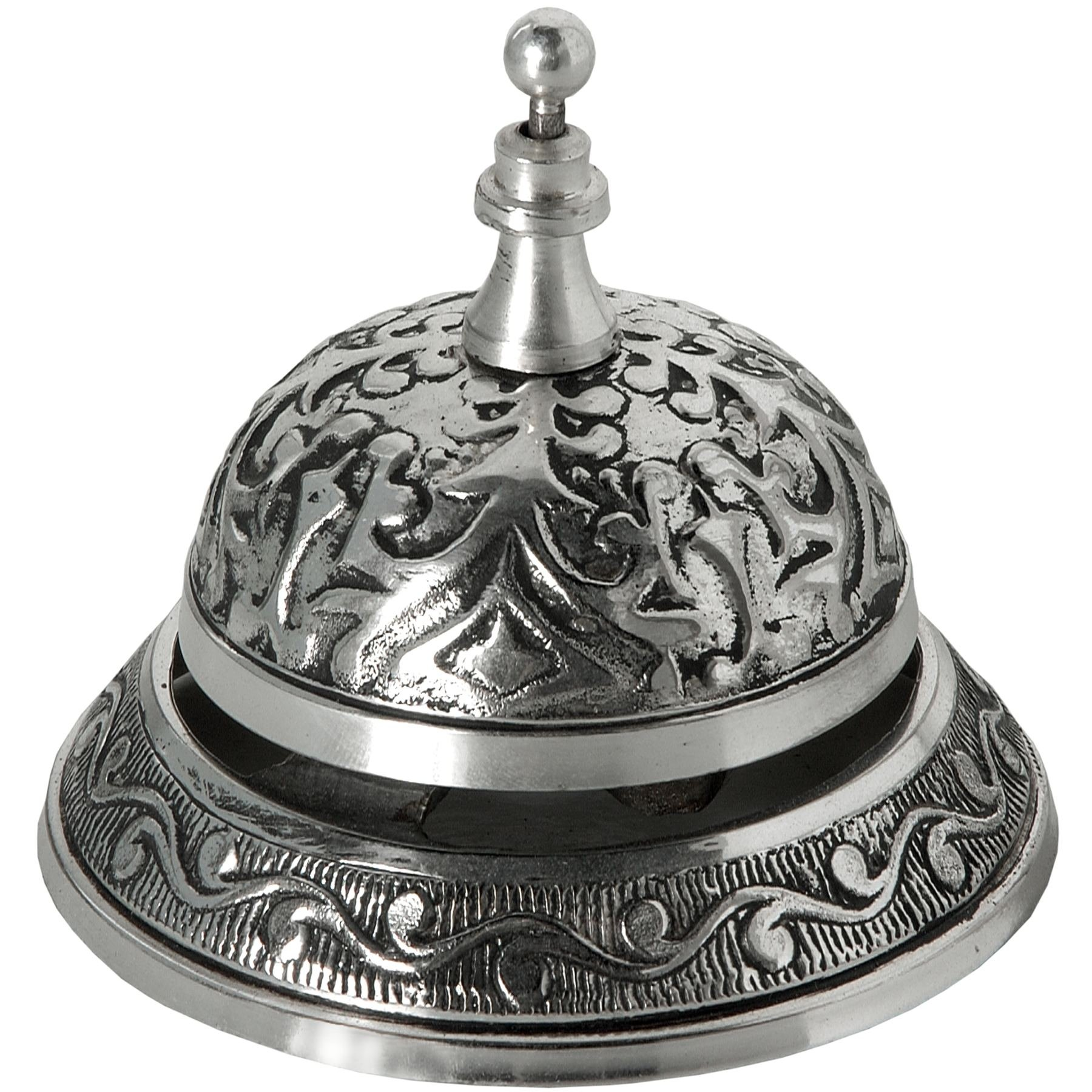 Hill Interiors Antique Silver Hotel/Service Desk Bell (One Size) (Silver)