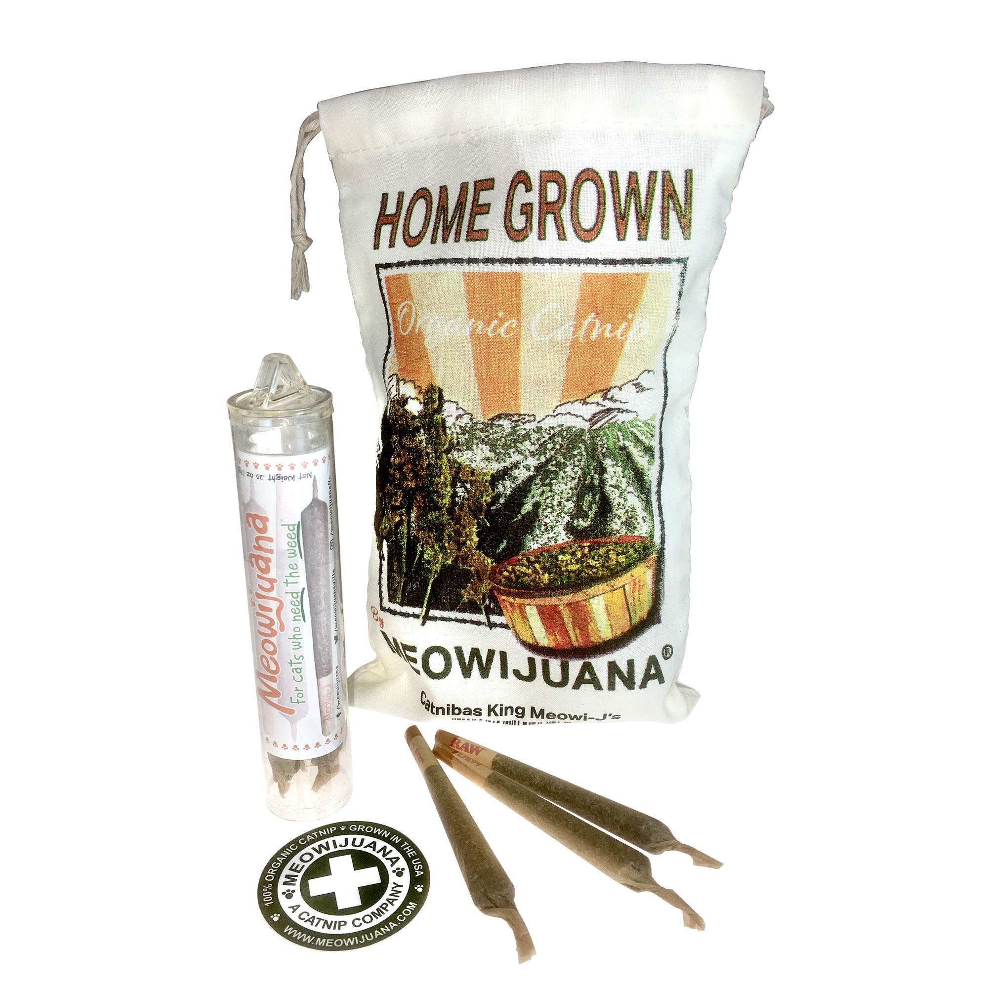 Meowijuana Catnip Joints, Feline Approved, Infused with Maximum Potency Your Cat is Guaranteed to Go Crazy for!