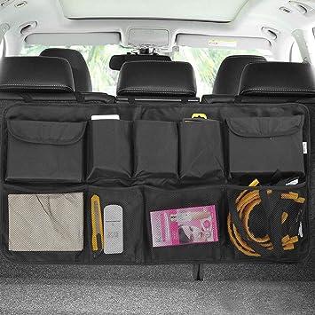 Hanging Car Boot Tidy Organiser for SUV Truck Van Garneck Car Back Seat Organizer with 4 Pockets Backseat Organizer
