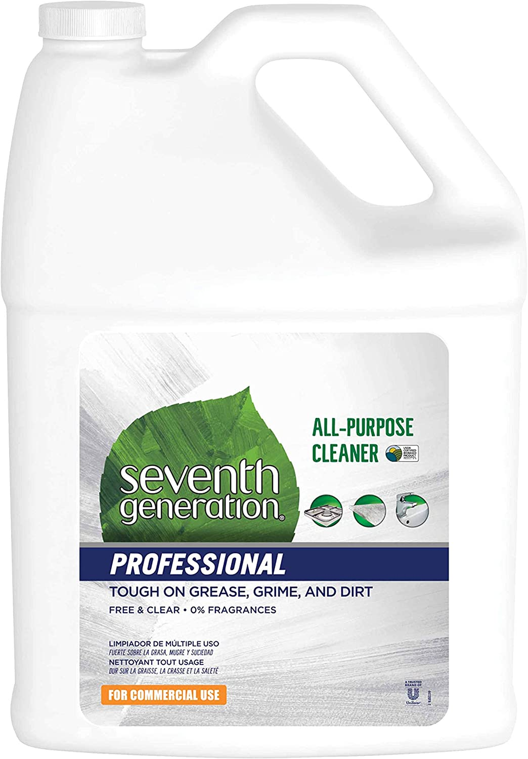 Seventh Generation Professional All-Purpose Cleaner Refill, Free & Clear, Unscented, 128 fl oz (Pack of 2)