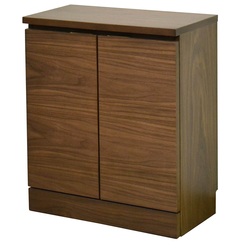 ライフスタイリングショップ キャビネット 木製 ウォールナット 幅60.5 窓下収納 ダークブラウン LS-711DB B00E7LJ004 Parent  幅60.5cm