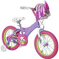 Trolls Dynacraft BMX - Bicicleta de Calle/Suciedad con Freno de Mano de 40,64 cm, Color Morado, Rosa y Verde