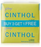 Cinthol Lime Soap, 125g (Pack of 3) + 125g Free