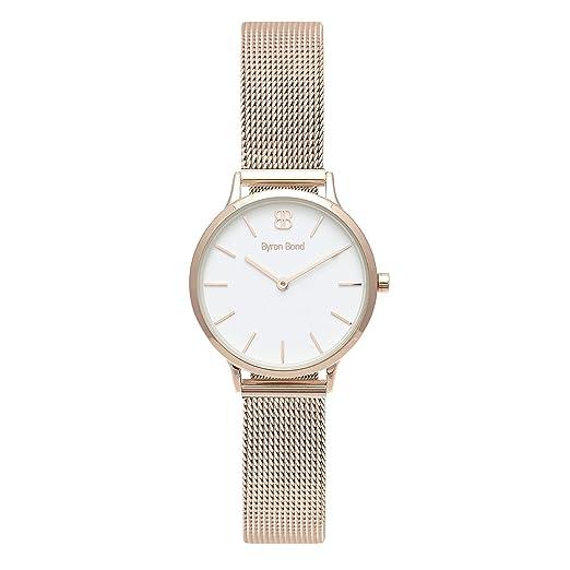 Byron Bond Mark 5 - Luxury 32mm Wrist Watches for Women (Dean - Rose Gold