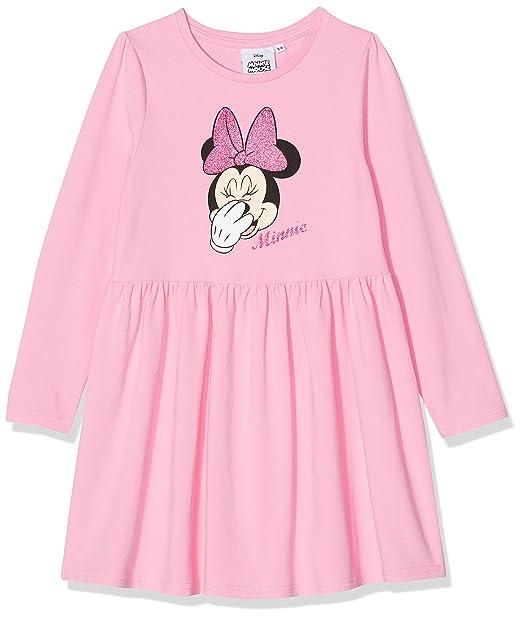 Disney Minnie Mouse Minnie Mouse Glitter Bow Head, Vestido para Niñas: Amazon.es: Ropa y accesorios