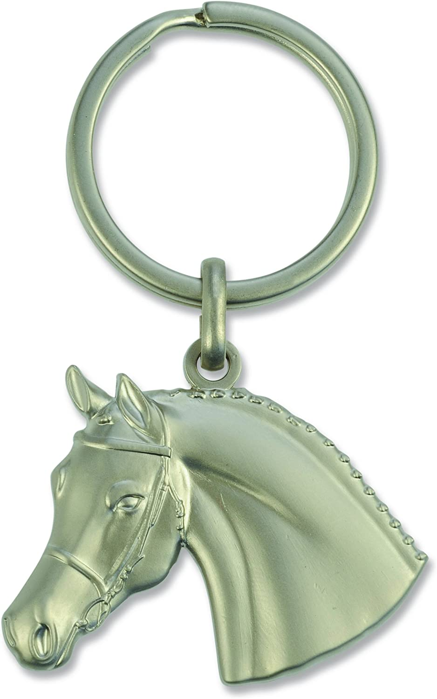 Happy Ross 901040568 - Llavero con cabeza de caballo con brida 3D, multicolor, talla única
