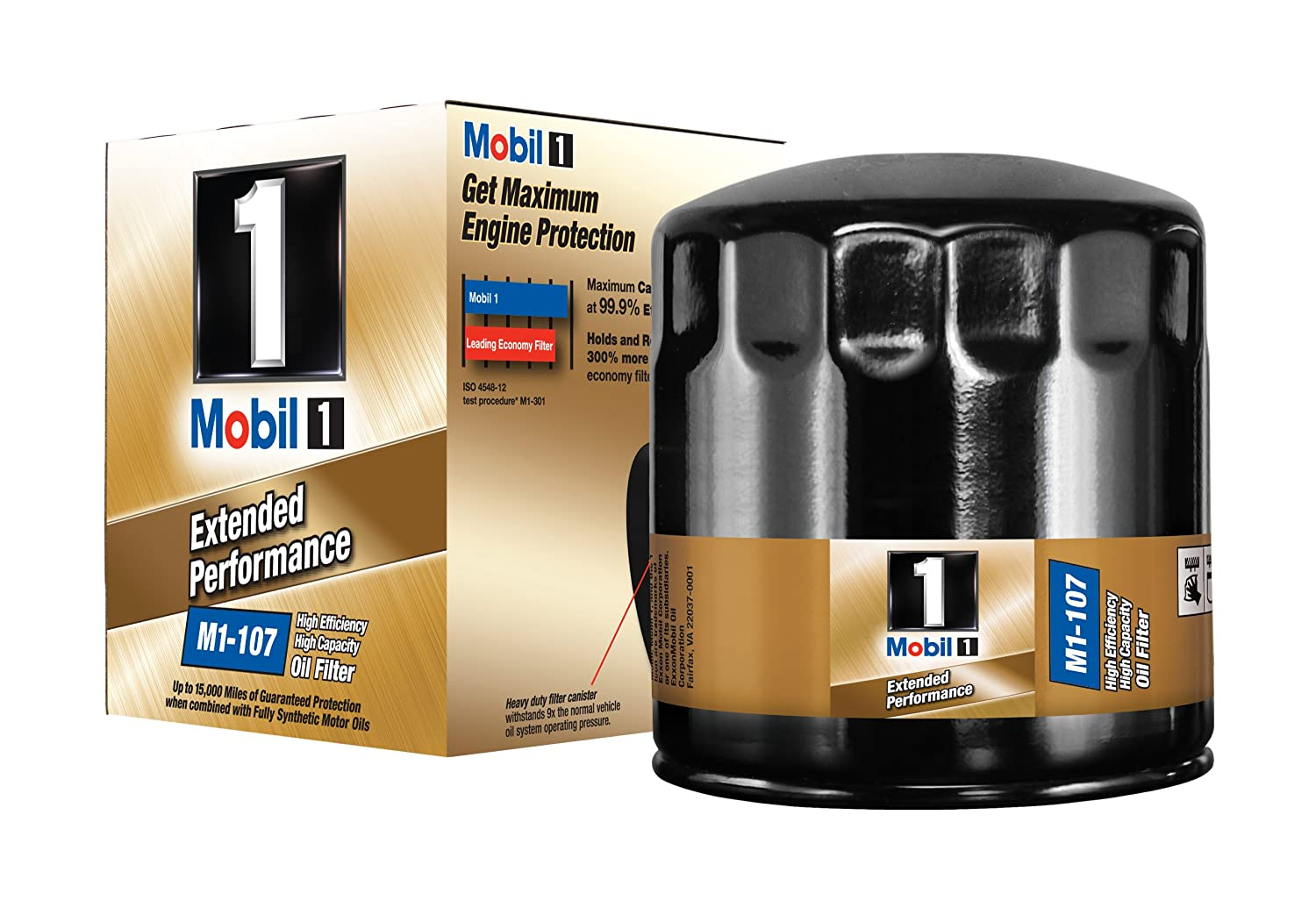 Mobil 1 M1-107 Extended Performance Oil Filter (Pack of 2)