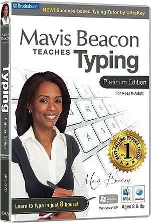 Mavis Beacon Teaches Typing Platinum Edition (PC/Mac) [DVD-ROM] [DVD-ROM][Importado de Reino Unido]: Amazon.es: Software
