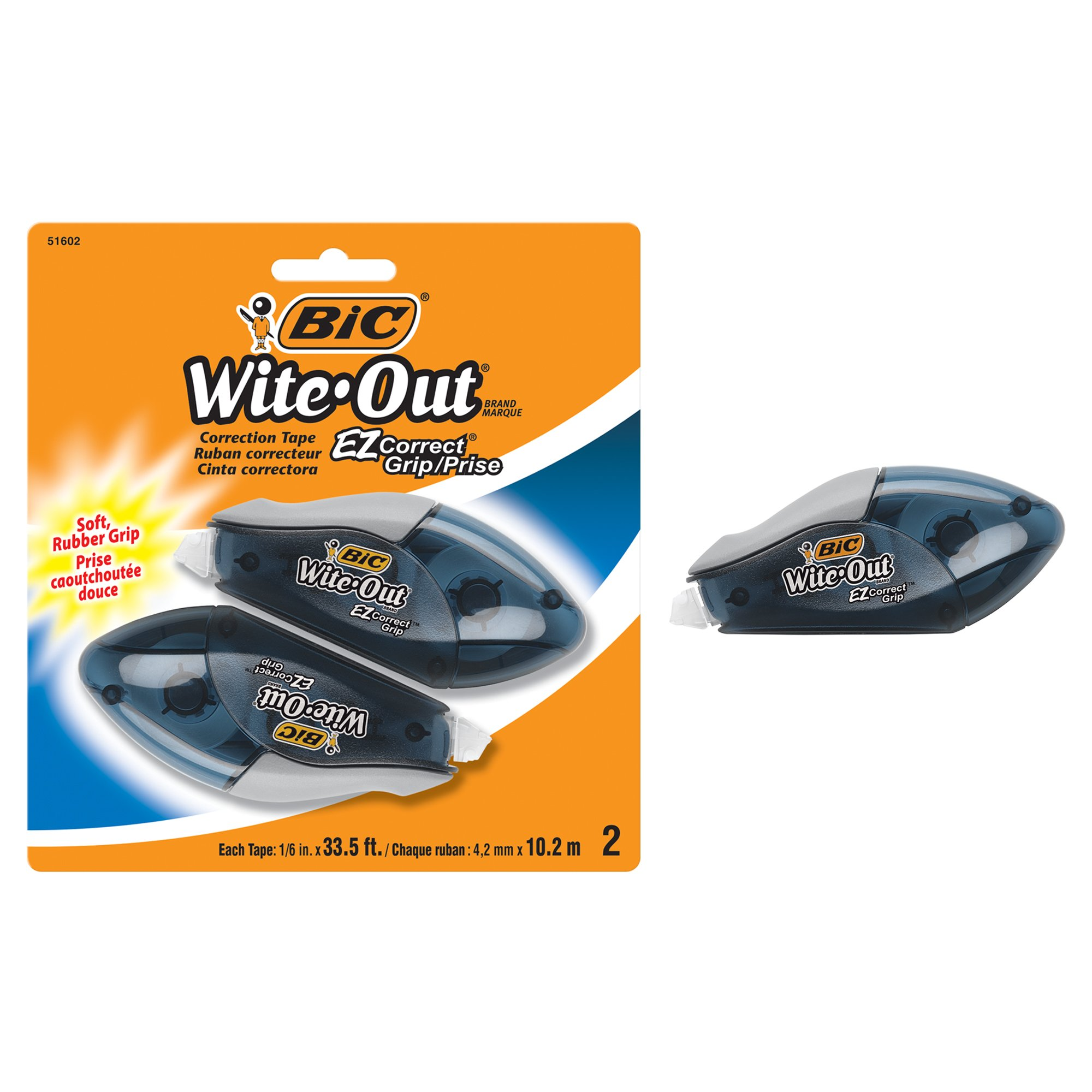 BIC Wite-Out Brand EZ Correct Grip Correction Tape, White, 2-Count by BIC (Image #1)