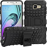 DMG Rugged Hard Back Cover Kickstand Armor Case for Samsung Galaxy A5 2016 Edition (Black)