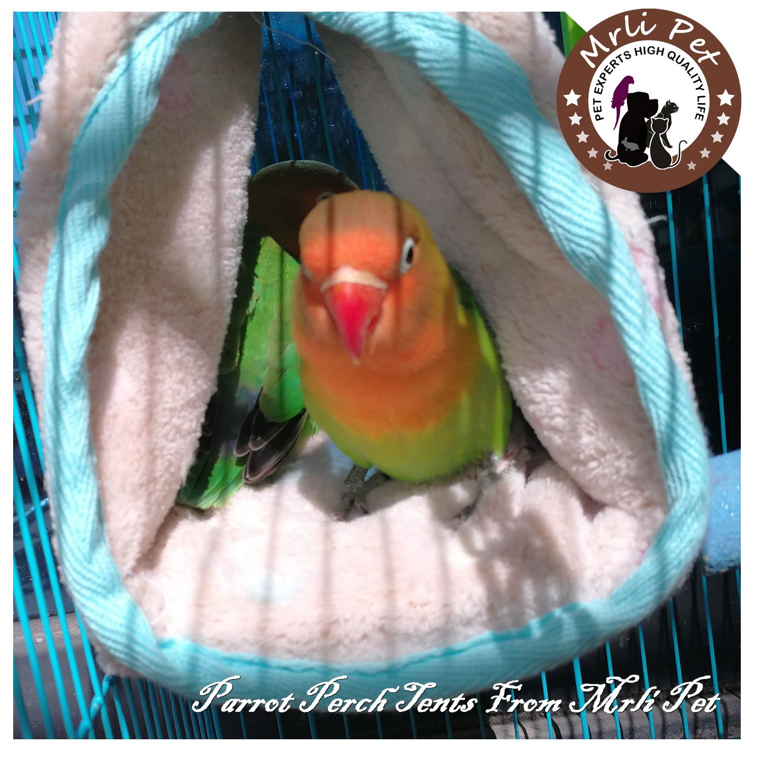 Parrot Perch Tents, Mrlipet Winter Warm Bird Animal Plush Snuggle Hammock Hanging Snuggle Cave Happy Hut Hideaway Small Mrli Pet