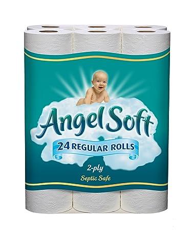amazon com angel soft bath tissue regular roll white 24 count