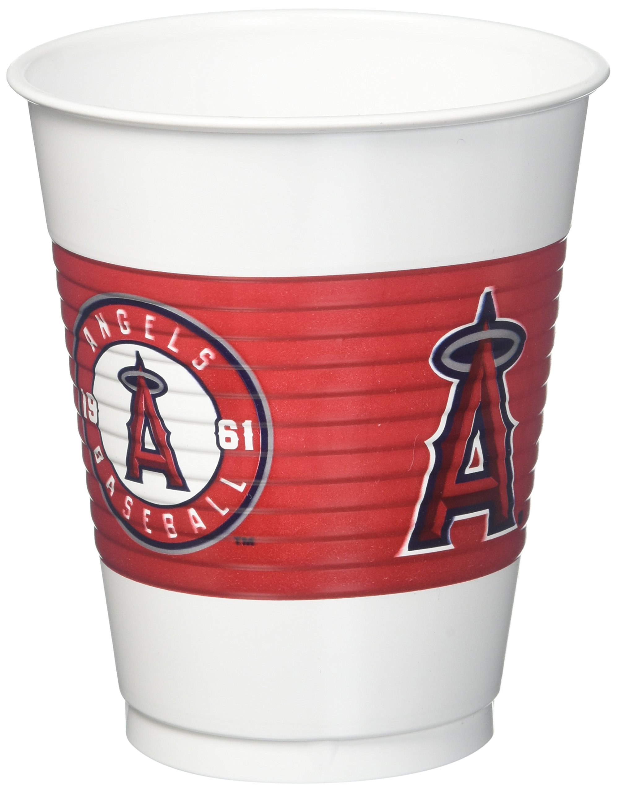 Los Angeles Angels Major League Baseball Collection Plastic Party Cups, 150 Ct.