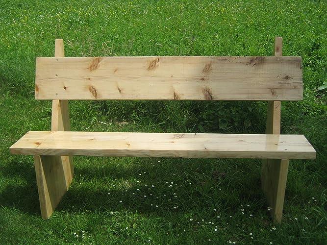 Holzbank Massivbank Für Den Garten Amazonde Handmade