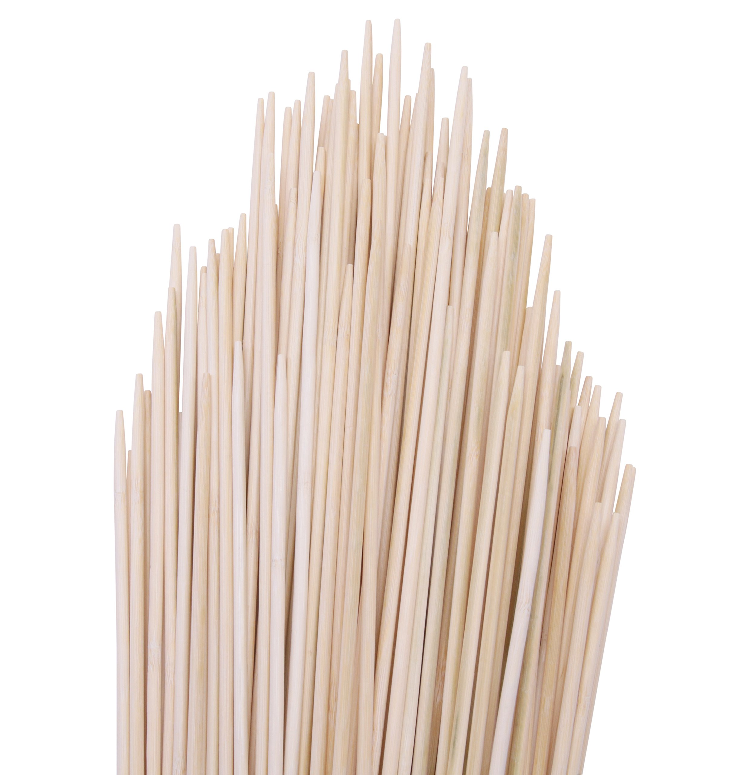 Wild Hearts Extra Long Natural Bamboo Marshmallow S'mores Roasting Sticks 36 inch x 5mm, 110 pack