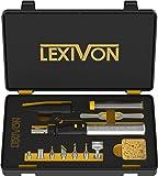 LEXIVON Butane Soldering Iron Multi-Purpose Kit | Cordless Self-Igniting Adjustable Flame 7-Tip Set | Pro Grade 125-Watt…