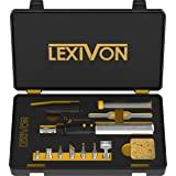 LEXIVON Butane Soldering Iron Multi-Purpose Kit | Cordless Self-Igniting Adjustable Flame 7-Tip Set | Pro Grade 125-Watt Equi
