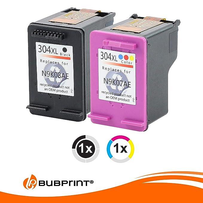 Juego De 2 Cartuchos de impresora compatible con HP 304 XXL con Indicador nivel HP DeskJet 3730 3720 3732 3700