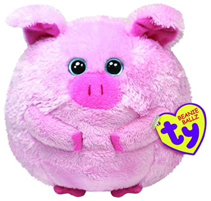 289b68851b5 Amazon.com  Ty Beanie Ballz Beans The Pig Large  Toys   Games