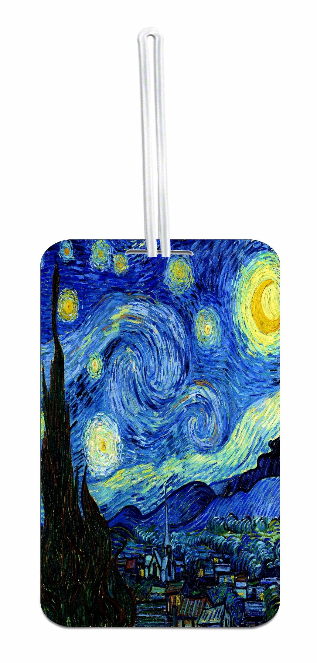Van Gogh Starry Night School Bag/Backpack ID Tag with Custom Back