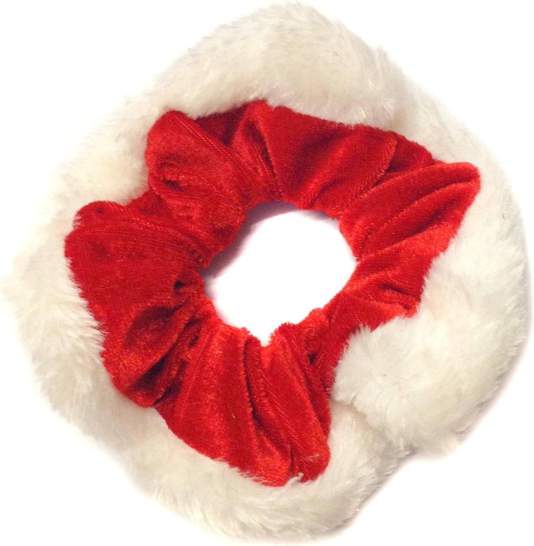 Gorgeous Red /& White Christmas Scrunchies Bobble UK SELLER