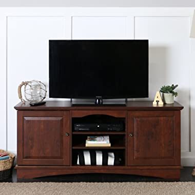 Walker Edison 60  Wood Storage TV Stand Console, Brown