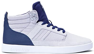 Supra Men's Bandit Light Grey/Navy/White Sneaker - 11.5 D(M)