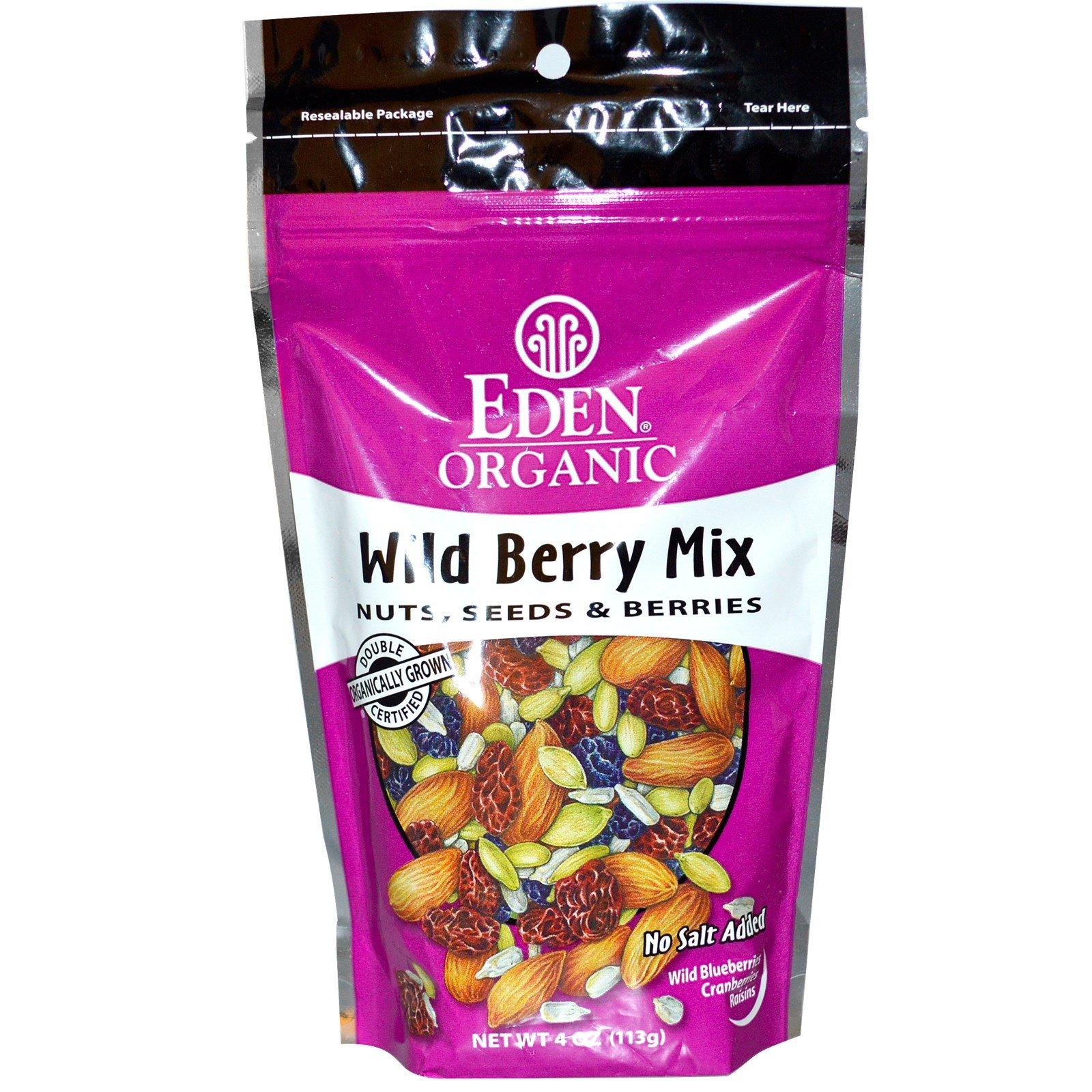 Eden Foods, Organic, Wild Berry Mix, Nuts, Seeds & Berries, 4 oz (113 g) - 2pcs