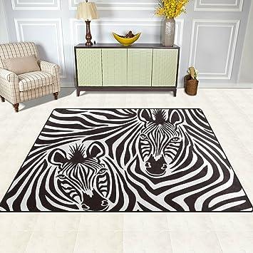 Attraktiv DOSHINE Teppich U2013 4, Abstraktes Muster, Zebra Design, Polyester, Anti
