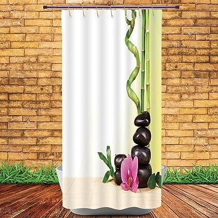 Amazon.com: iPrint Shower Curtains 2.0,Spa Decor,Spa Still Calm Life ...
