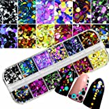 SMILEQ Fashion Colorful Nail Art Tips Stickers 3D Laser Makeup Manicure DIY Art Decals Decoration Gift