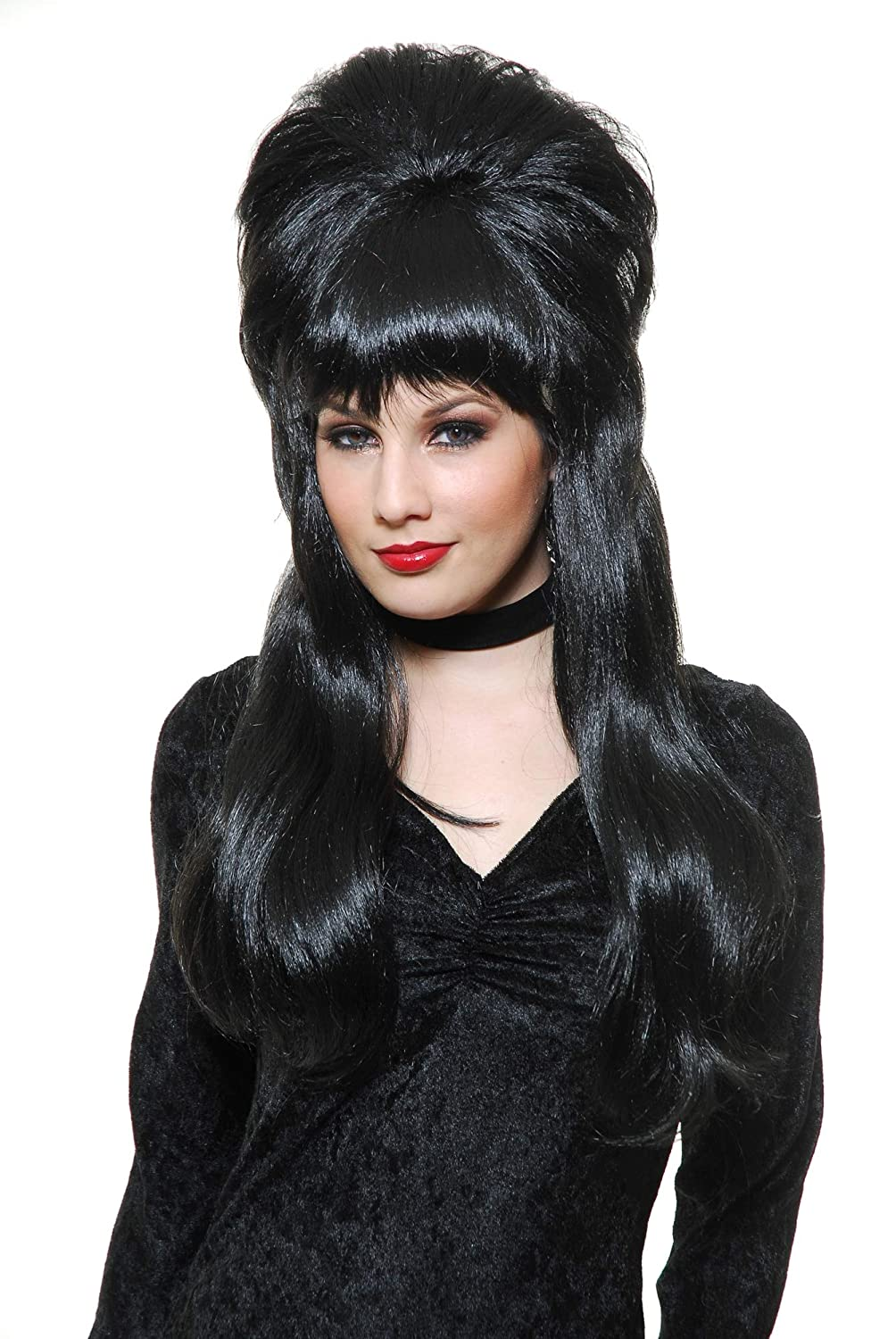 Charades Women's Mistress of The Dark Wig, Black, One Size CH60466_OS