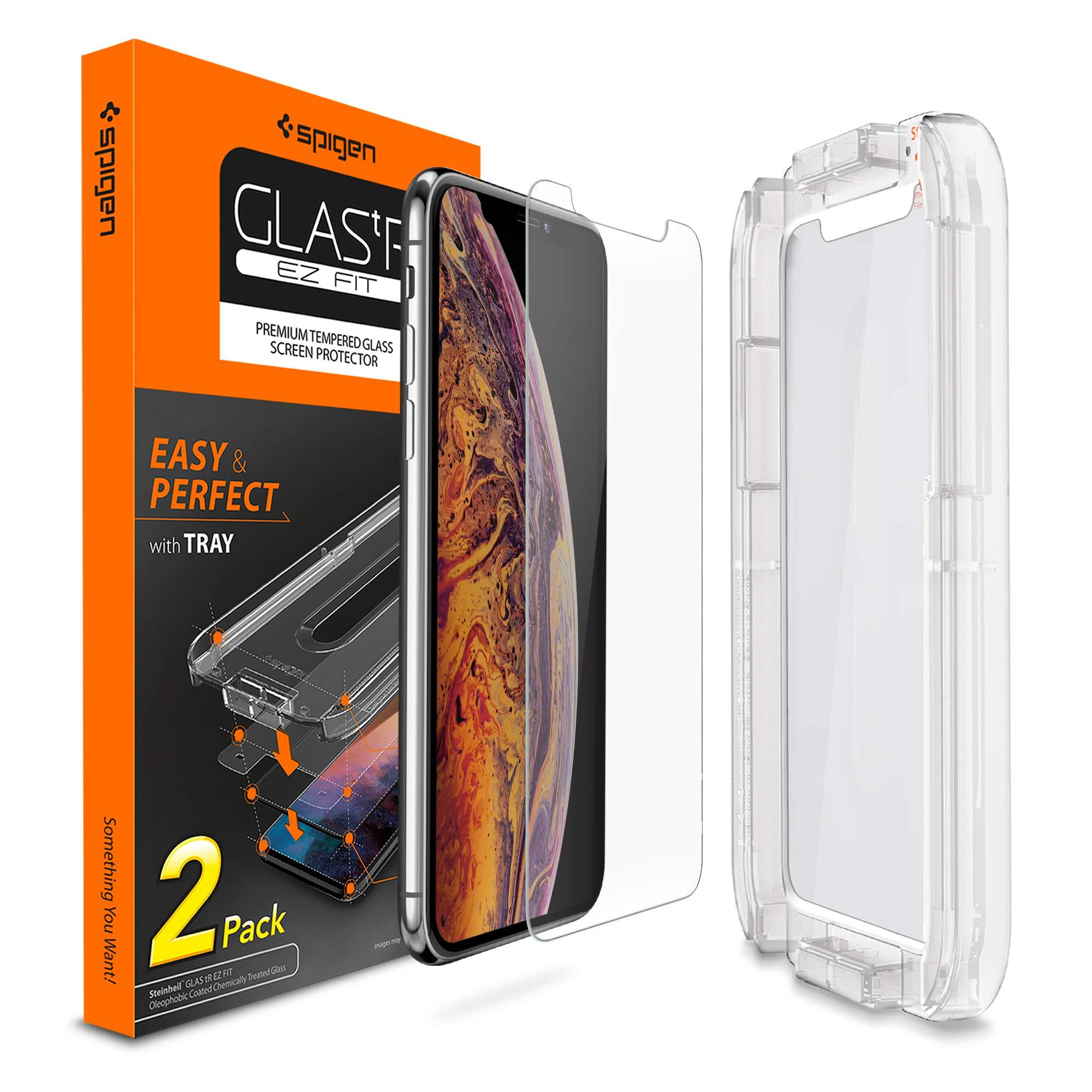 Vidrio Templado Spigen P/ iPhone X/xs Pack X 2