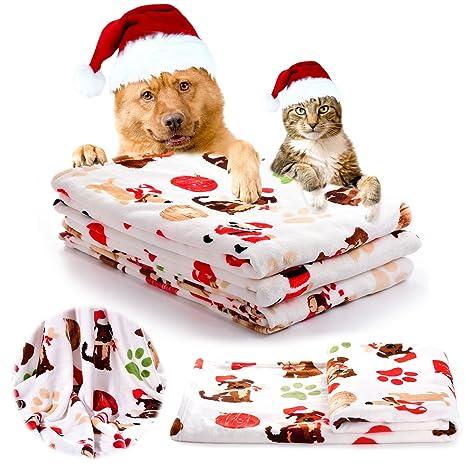 iNNEXT Manta de cachorro Chirstmas Regalo Cálido Perro Gato Franela Manta Cama Manta para Gatitos Cachorros
