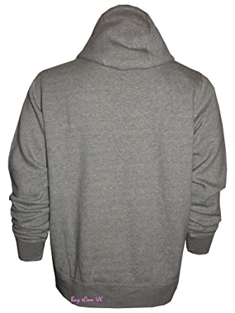 Mens Women Plain Fleece Hooded Top Cotton Branded Sweat Pullover Jumper M to 3XL