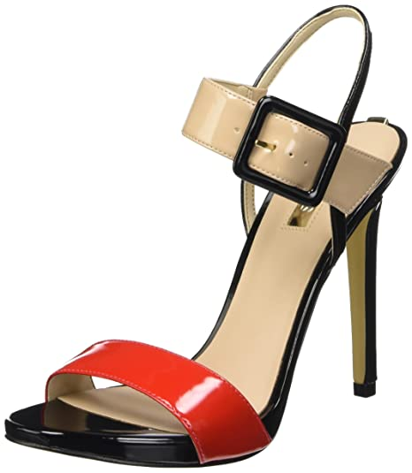 GUESS PEEP TOE PUMPS ROSSO SCURO elegante da donna tg. de 395 PEEP TOE PUMPS