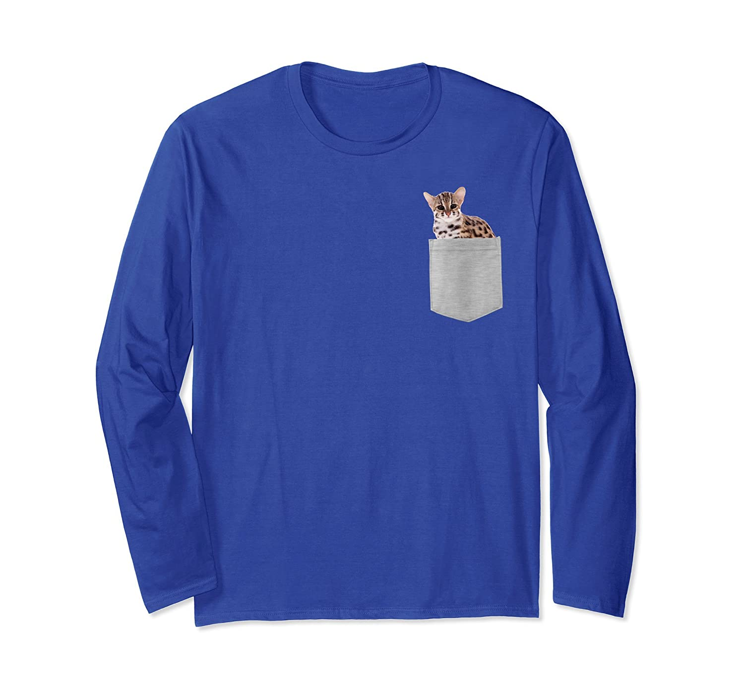 Asian Leopard Cat In Your Pocket Long Sleeve Shirt-AZP