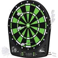 """Fat Cat Sirius 13.5"""" Electronic Dartboard, Compact Size for Easy Install, Backlit Cricket Scoreboard, Easy to Use Button Interface, Optional Double in/out Games, Durable Thermal Resin Segments"""