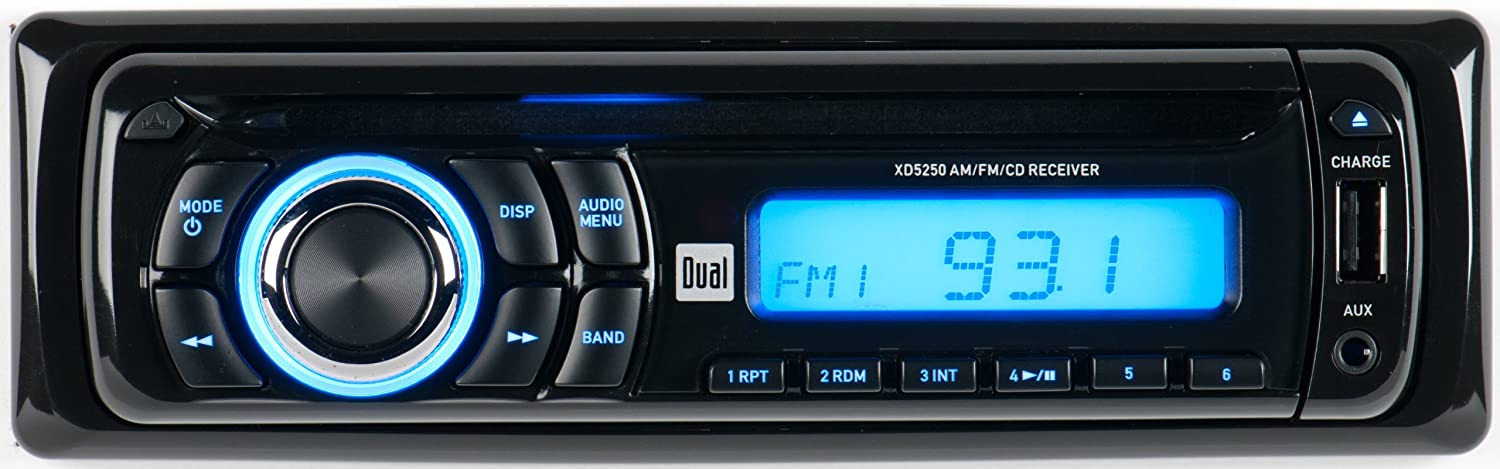 81kSz3zJqqL._SL1500_ amazon com dual xd5250 in dash cd cd rw car stereo receiver with dual xd5250 wiring harness at readyjetset.co