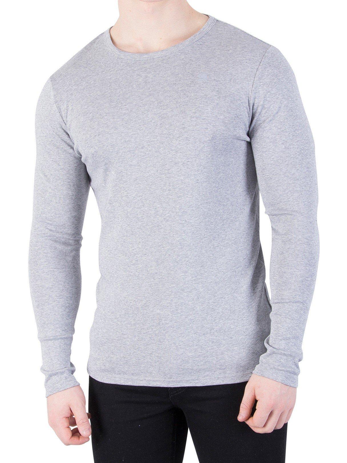 G-Star Men's Longsleeved Slim T-Shirt, Grey, X-Large