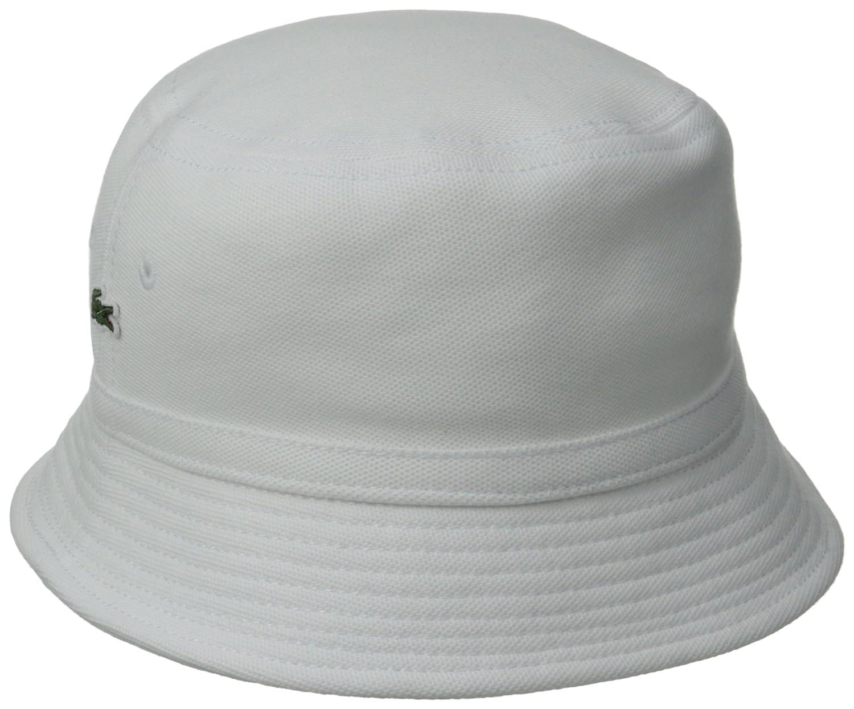 67fae3a54e9 Lacoste Men s Cotton Pique Bucket Hat at Amazon Men s Clothing store