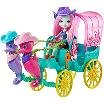 Enchantimals Seahorse Carriage Sandella Seahorse Doll and Playset: Toys & Games
