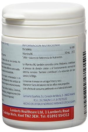 Lamberts Vitamina B6 50mg - 100 Tabletas: Amazon.es: Salud y cuidado personal