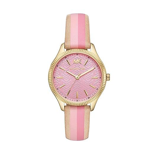 Michael Kors Reloj Analógico para Mujer de Cuarzo con Correa en Cuero MK2809: Amazon.es: Relojes