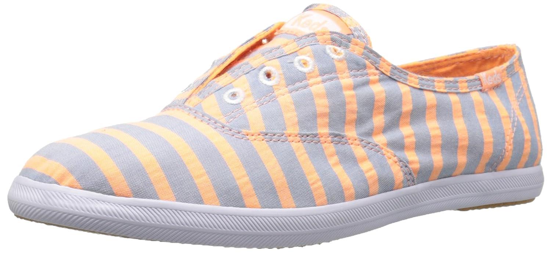 Keds Women's Chillax Washed Laceless Slip-On Sneaker B005AXYFPI 7 B(M) US|Neon Orange